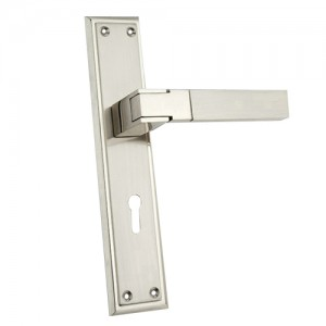 """Labana"" Zinc Handle with Back Plate"