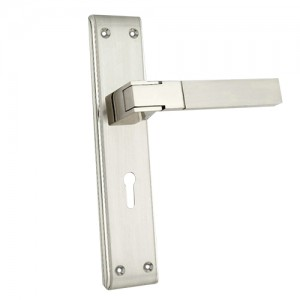 """Lahad"" Zinc Handle with Back Plate"