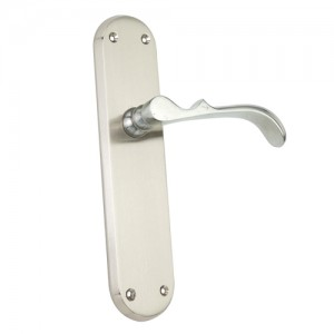 """Laish"" Zinc Handle with Back Plate"