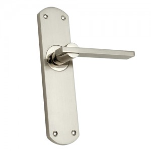 """Nachor"" Zinc Handle with Back Plate"