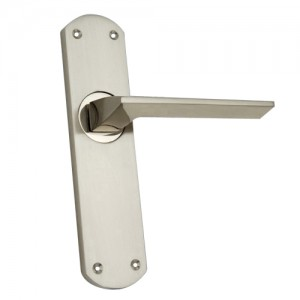 """Nahbi"" Zinc Handle with Back Plate"