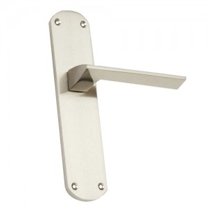 """Ono"" Zinc Handle with Back Plate"