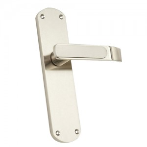 """Ozem"" Zinc Handle with Back Plate"
