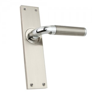 """Pagiel"" Zinc Handle with Back Plate"