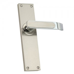 """Pai"" Zinc Handle with Back Plate"