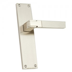 """Raamah"" Zinc Handles with Back Plates"