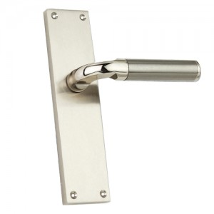 """Ragau"" Zinc Handle with Back Plate"