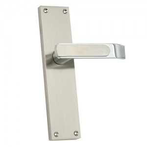 """Raham"" Zinc Handle with Back Plate"