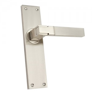 """Ramah"" Zinc Handle with Back Plate"