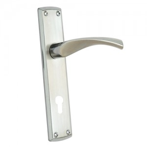 """Taanach"" Zinc Handle with Back Plate"