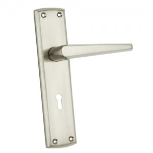 """Uel"" Zinc Handle with Back Plate"