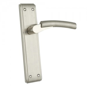 """Vashti"" Zinc Handle with Back Plate"