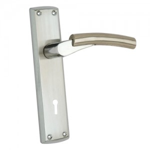 """Vophsi"" Zinc Handle with Back Plate"