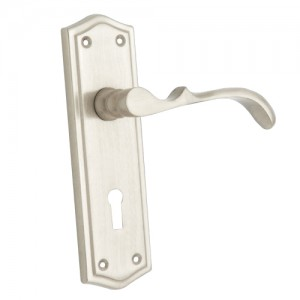 """Zabad"" Zinc Handle with Back Plate"