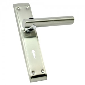 """Bathseba"" SS Door Handle with SS Plate"